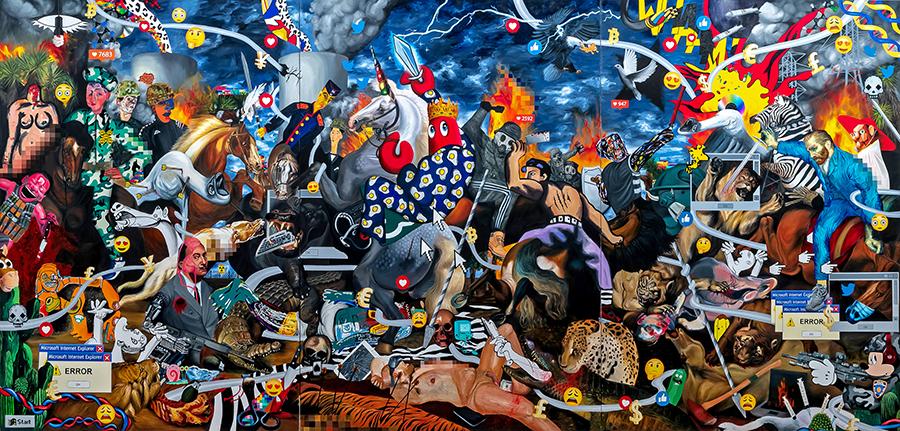 영국 팝아트 예술가 필립 콜버트가 세종문화회관에서 첫 내한 전시를 연다. 그의 작품에 담긴 이야기와 코로나19 사태 극복 메시지를 만나보자.
